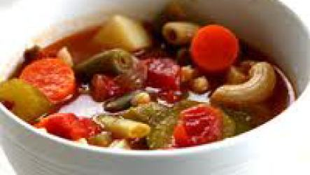 Суп минестроне для долгожителей.