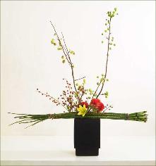 Сочетание цветов в икебане