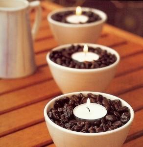 декоративные свечи с кофе