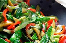 Соте из овощей.