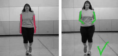 движение руками при ходьбе