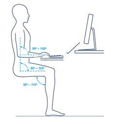 как правильно сидеть за рабочим столом