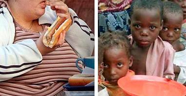 ожирение и недоедание на планете