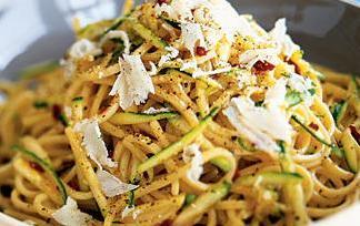 спагетти с кабачками