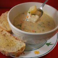 Суп пюре рыбный по-французски