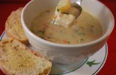 Суп пюре рыбный по-французски.