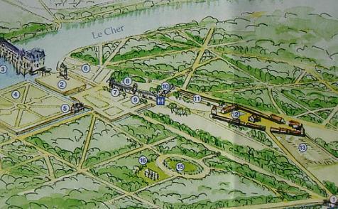 план замка Шенонсо