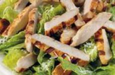 Салат с курицей и грибами.