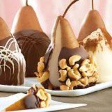 Груша в шоколаде— полезно и красиво