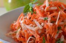 Салат из моркови и яблока.