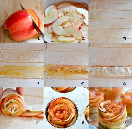 как приготовить яблоки в слоеном тесте