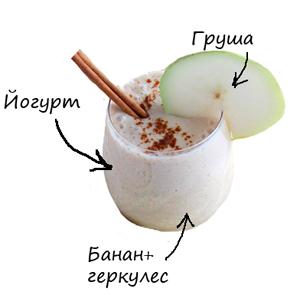 йогурт с грушей