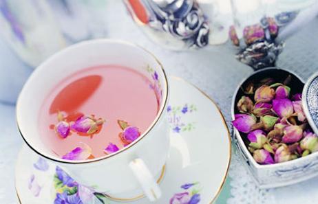 чай с розой