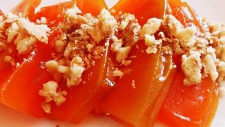 Десерт из тыквы с грецкими орехами.
