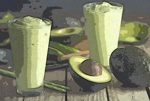 коктейль из авокадо и молока