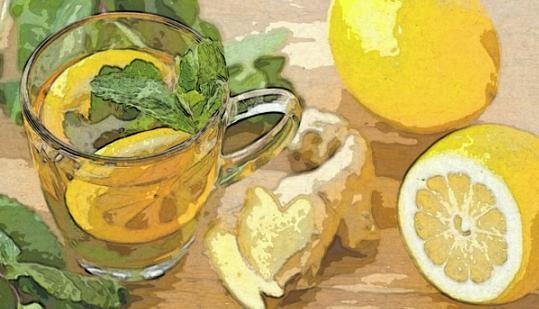 ромашка, лимон, имбирь