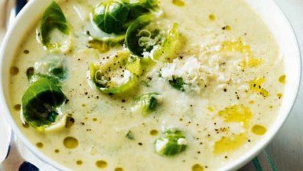 Суп из брюссельской капусты с сыром и грецкими орехами. Вы еще не пробовали?