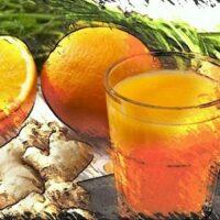 Апельсин с имбирем напиток для здоровья