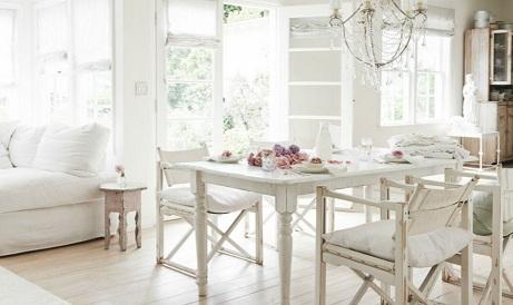 Интерьер дома в стиле шебби шик