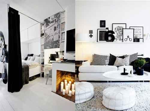Черное и белое в интерьере