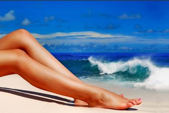 скраб для ног с морской солью