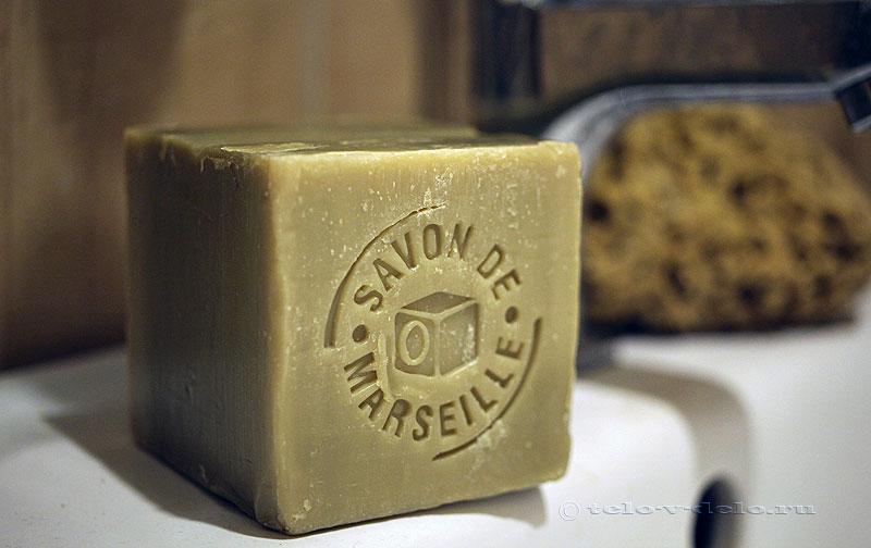 марсельское мыло в ванной