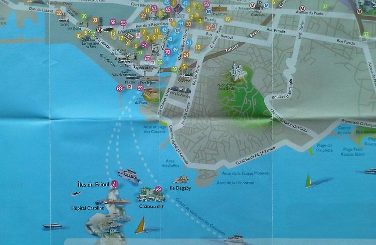 остров Иф на карте